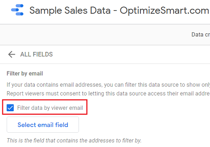 Filter data by viewer email 1
