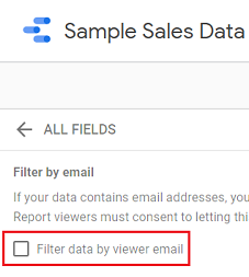 Filter data by viewer email2