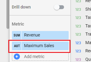 Find your calculated field in the properties panel