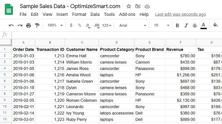 Google Sheets data source2