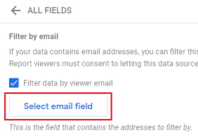 Select email field