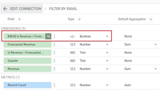 boolean google data studio
