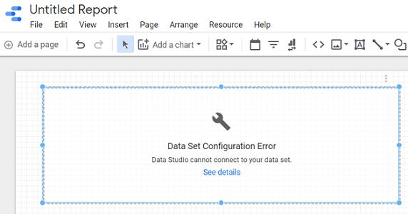 Data Set Configuration Error in Google Data Studio