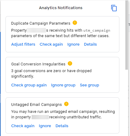 debugger tutorial Analytics notification main panel