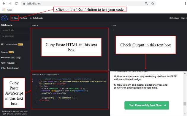 debugger tutorial jsfiddle.net