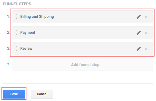 ecommerce tracking gtm Funnel steps