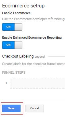 ecommerce tracking gtm Save ecommerce setup