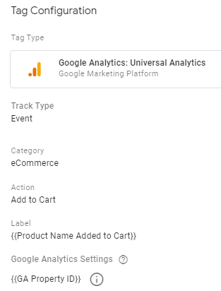 ecommerce tracking gtm add to cart