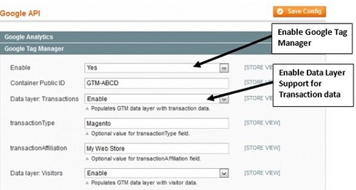 ecommerce tracking gtm enable data layer
