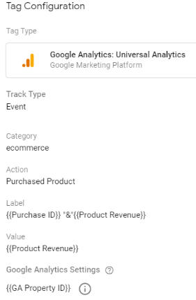 ecommerce tracking gtm purchase 1