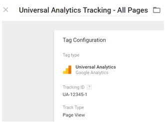 ecommerce tracking gtm universal analytics tag