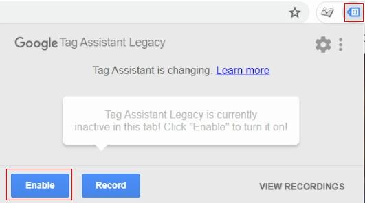 fix ga Google Tag assistant