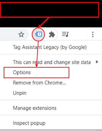 fix ga right click on tag assistant icon 1