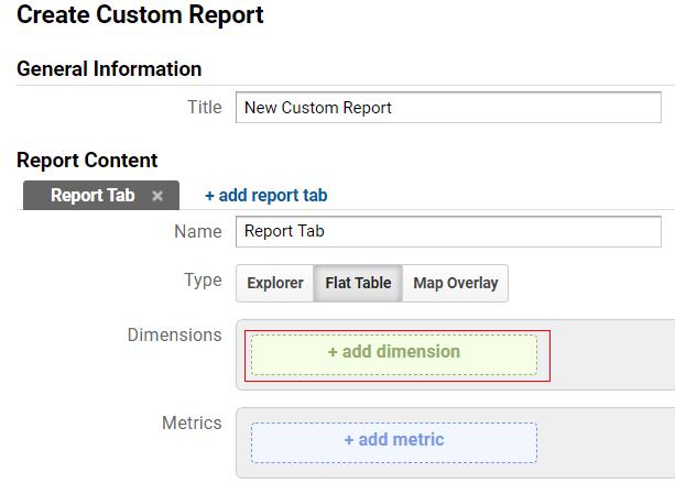 ga dimensions metrics add dimension