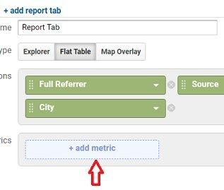 ga dimensions metrics add metric