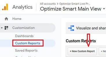 ga dimensions metrics new custom report