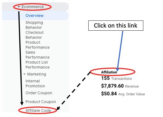 ga enhanced ecommerce tracking affiliation