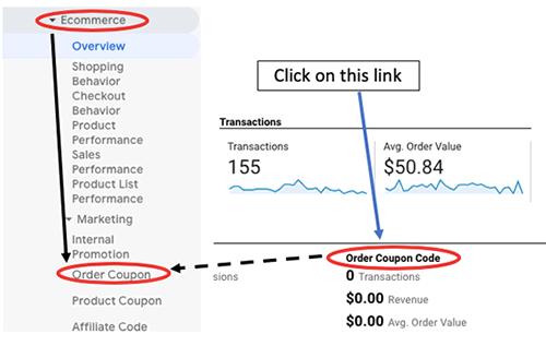 ga enhanced ecommerce tracking order coupon code