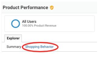 ga enhanced ecommerce tracking shopping behaviour