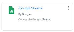 google data studio google sheets Google Sheet Connector