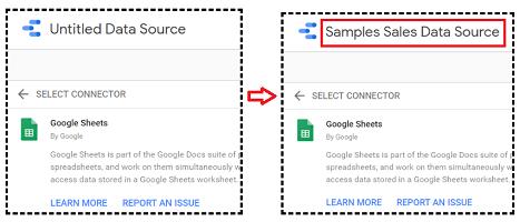google data studio google sheets Rename your data source
