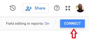 google data studio google sheets connect button