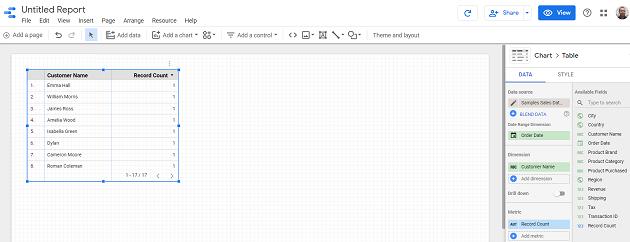 google data studio google sheets untitled report google data studio