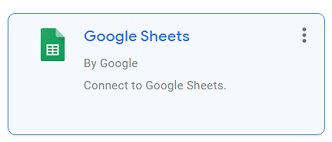 google sheets connector