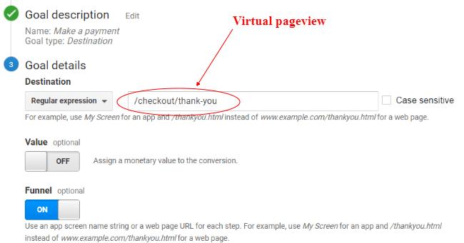 gtm virtual pageviews Goal