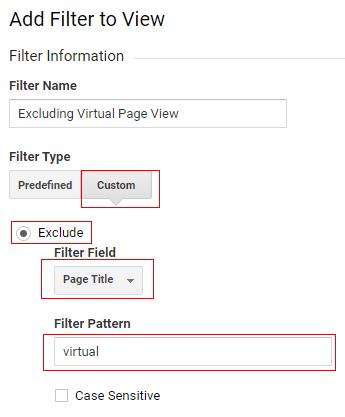 gtm virtual pageviews filter