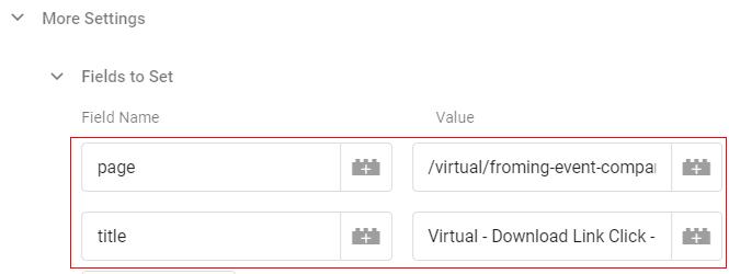 gtm virtual pageviews set feild