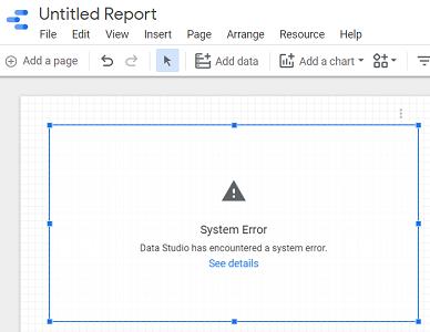 system error data studio