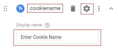 Cookie name