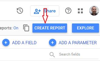 Create Report data studio