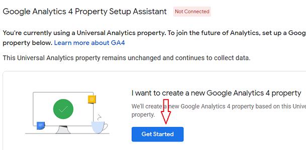 I want to create a new Google Analytics 4 property