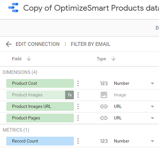 Navigate to the copied data source schema editor