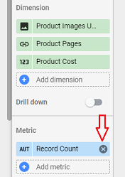 Remove the Record count metric