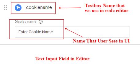 Text input details
