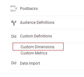 custom dimensions