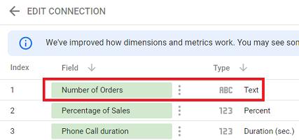 dataset config error Number of orders