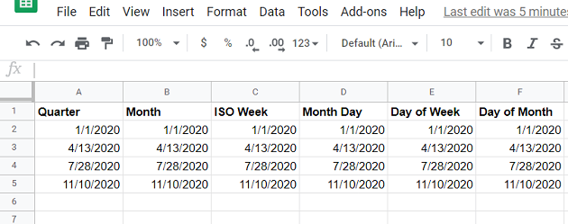 date and time data types consider the following Google Sheets data source4 1