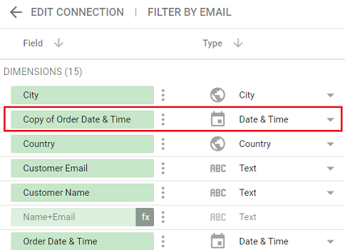 date and time data types copy of Order Date and Time