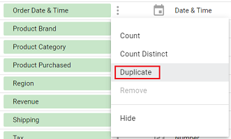 date and time data types duplicate