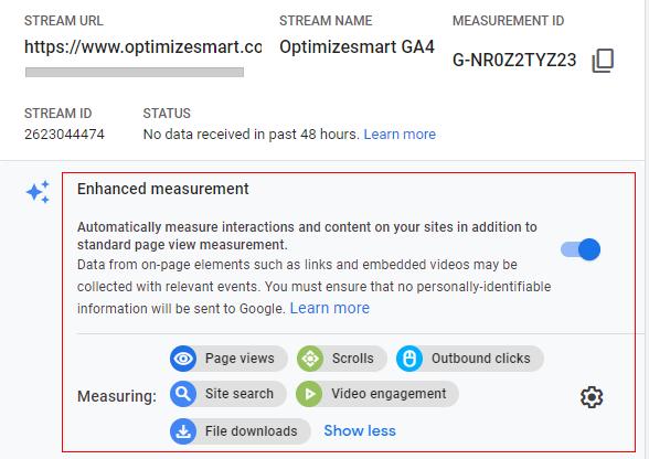 enhance measurement property details