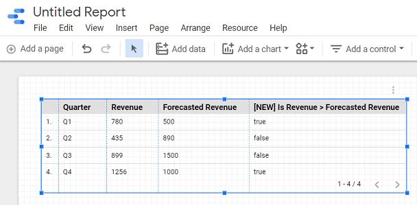 google data studio boolean data type create a report based on this data source schema