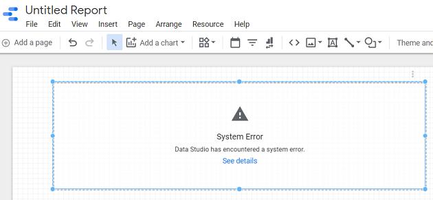 google data studio boolean data type system error google data studio
