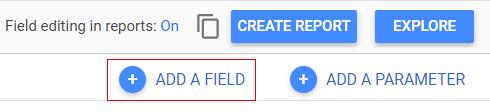 google data studio parameters add afield