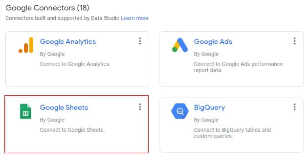 google data studio parameters google sheet