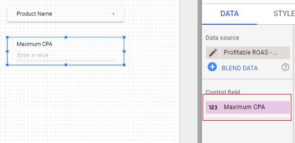 google data studio parameters input box 1