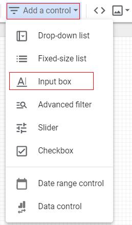 google data studio parameters input